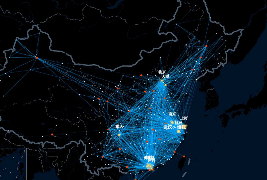 Chinese New Year travel paths