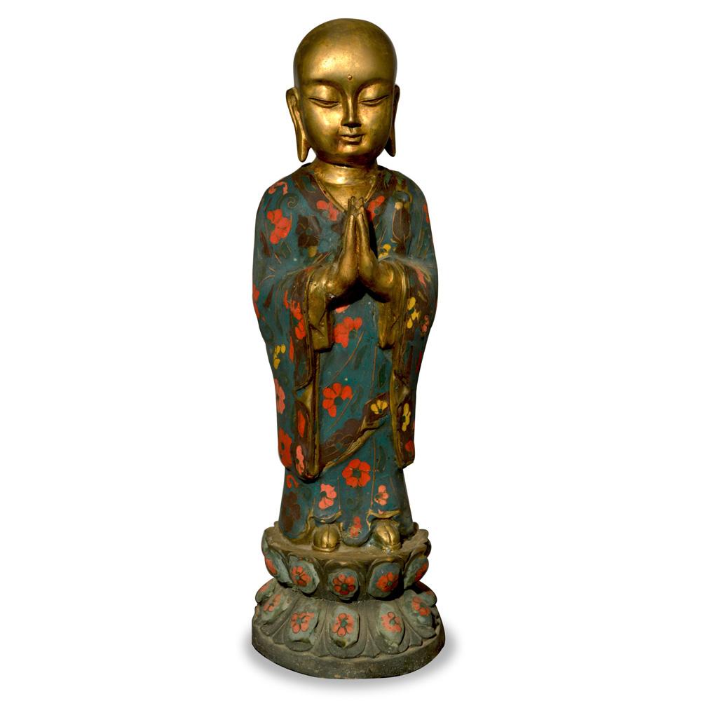 Tibetan Bronze Monk Statue