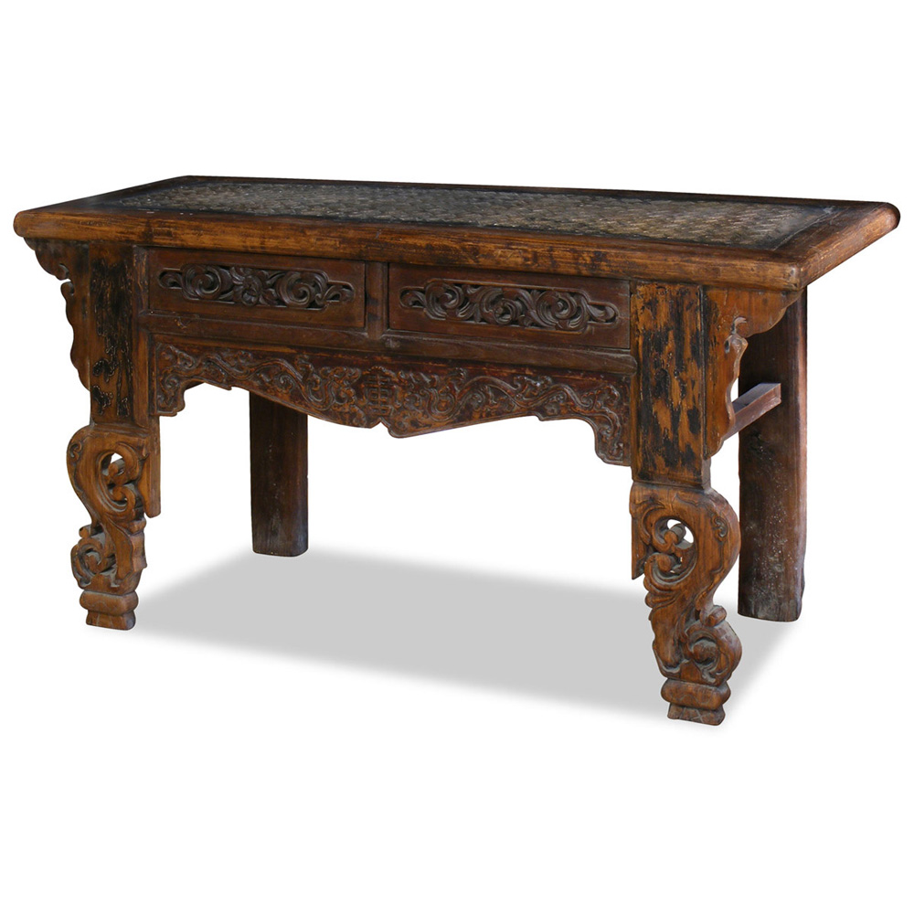 Elmwood Antique Altar Console Table