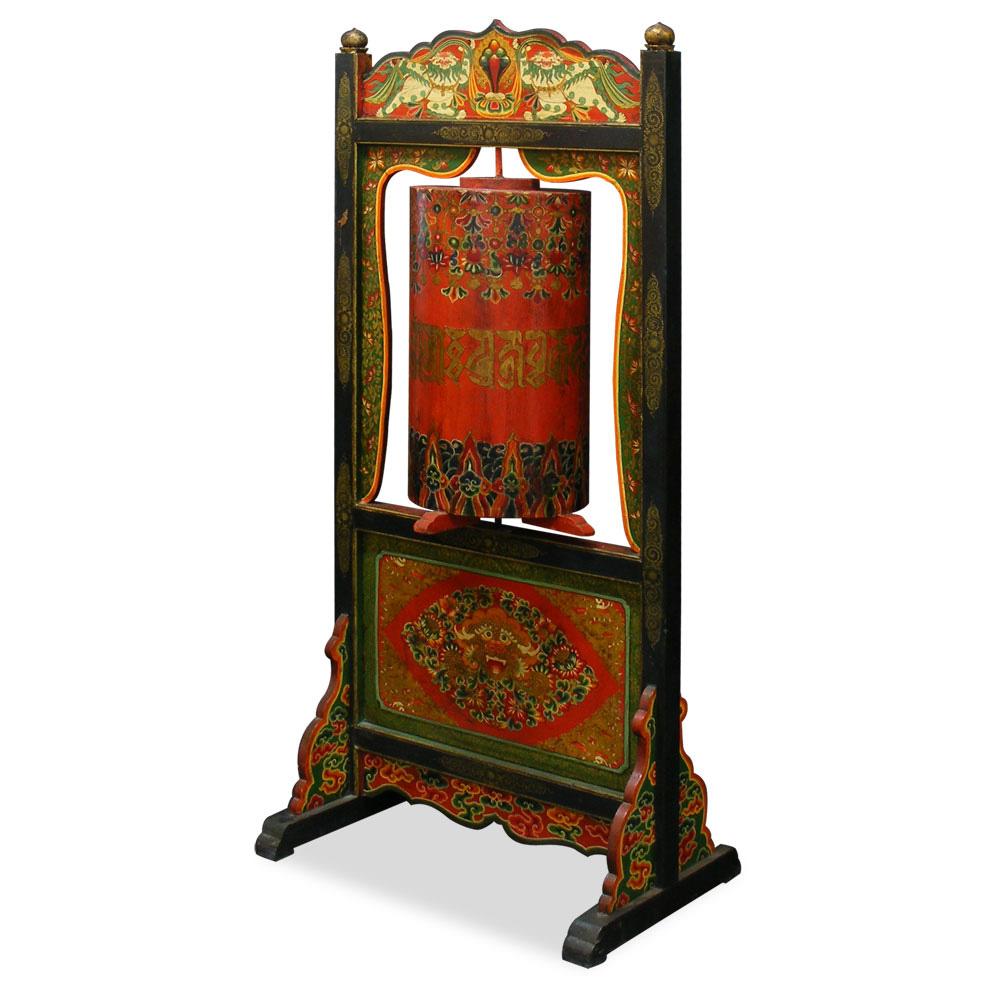 Tibetan Turning Prayer Wheel