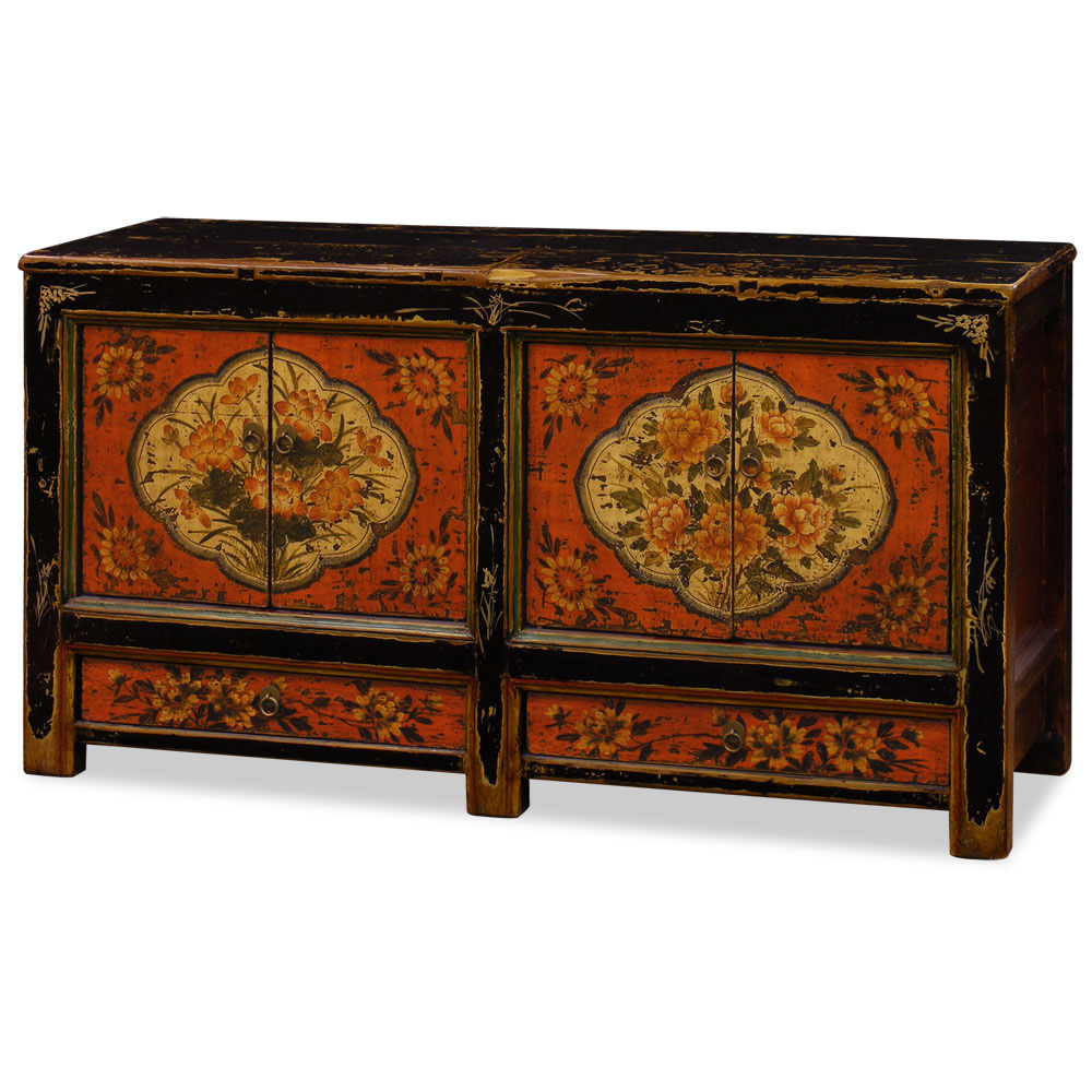 Hand-Painted Mongolian Cabinet