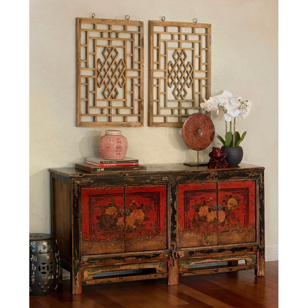 Elmwood 4-Door Mongolian Cabinet