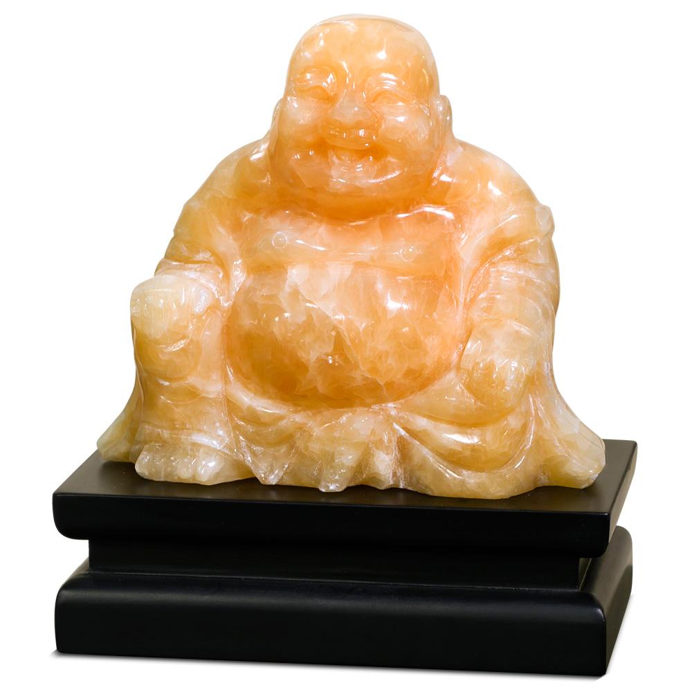 Orange Jade Chinese Happy Buddha