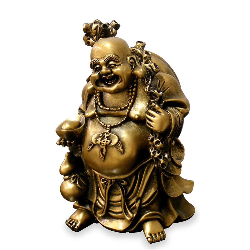 Laughing Happy Buddha Asian Figurine