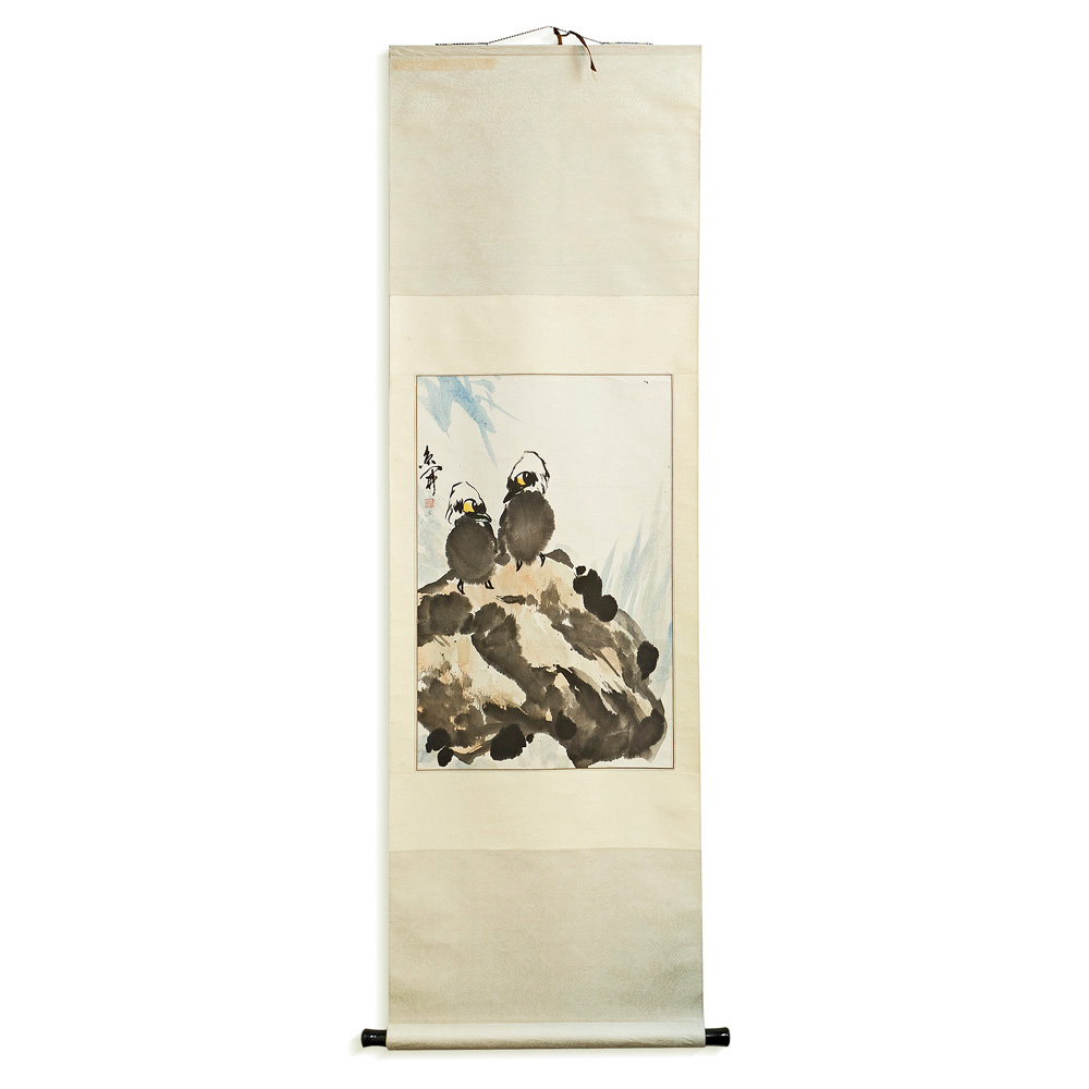 Chinese Scroll with Two Birds