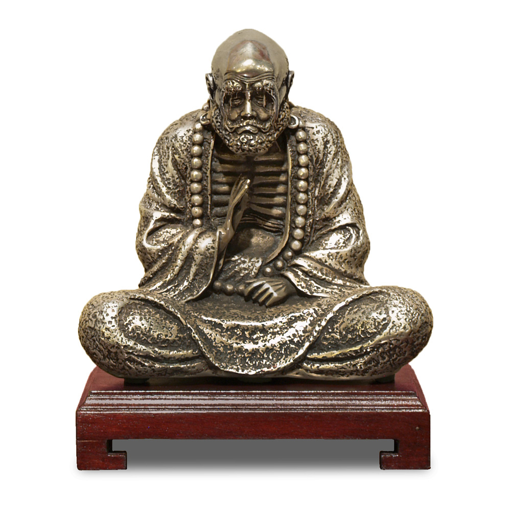 Silver Plated Meditating Damo
