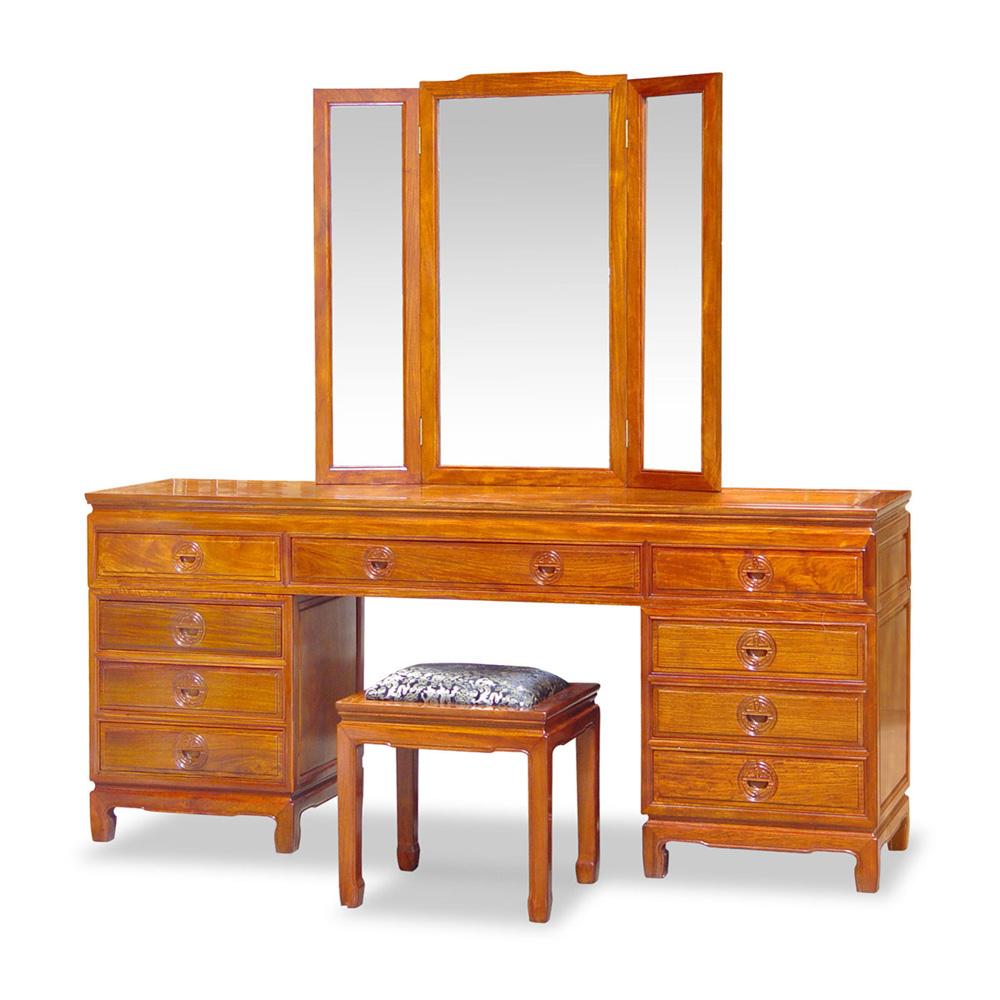 Rosewood Longevity Design Dresser Set