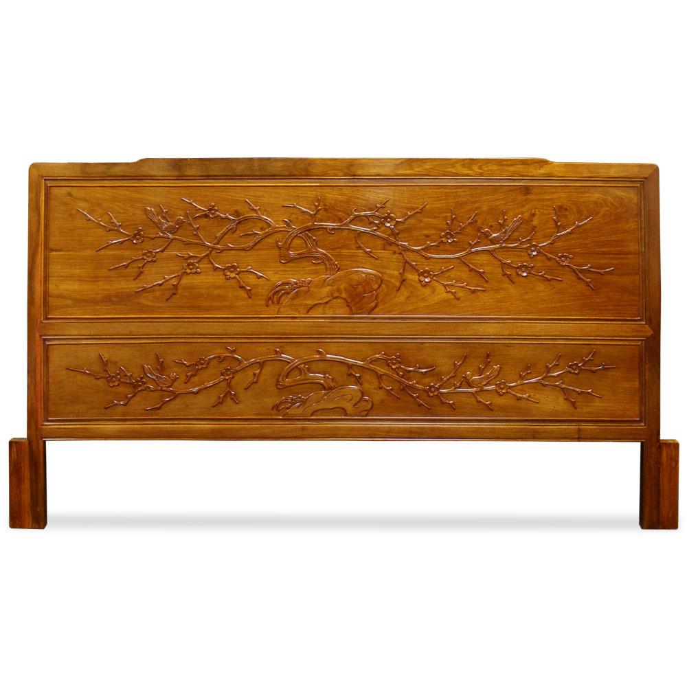 Rosewood Cal. King Size Cherry Blossom Motif Headboard