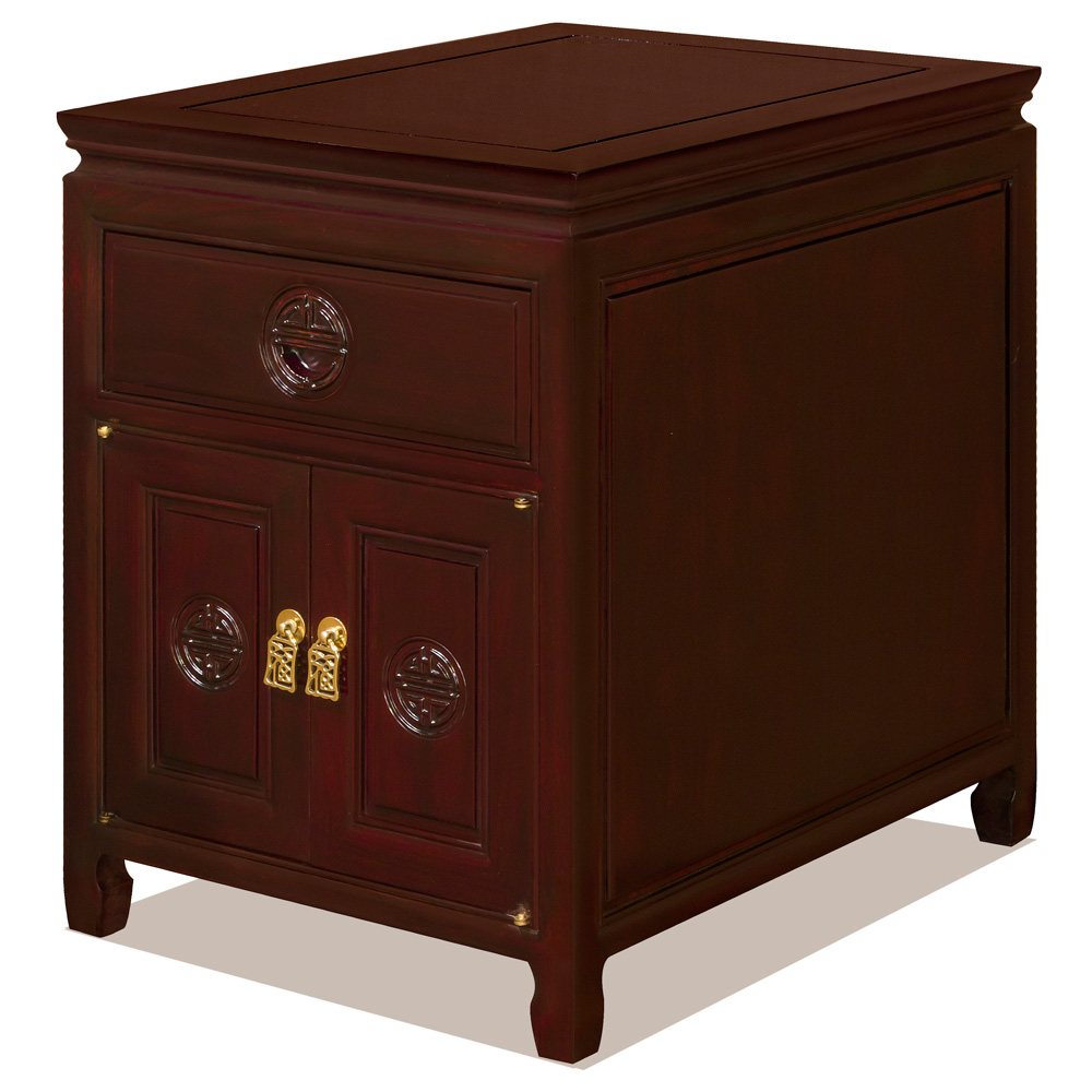 Dark Cherry Rosewood Longevity Design Nightstand