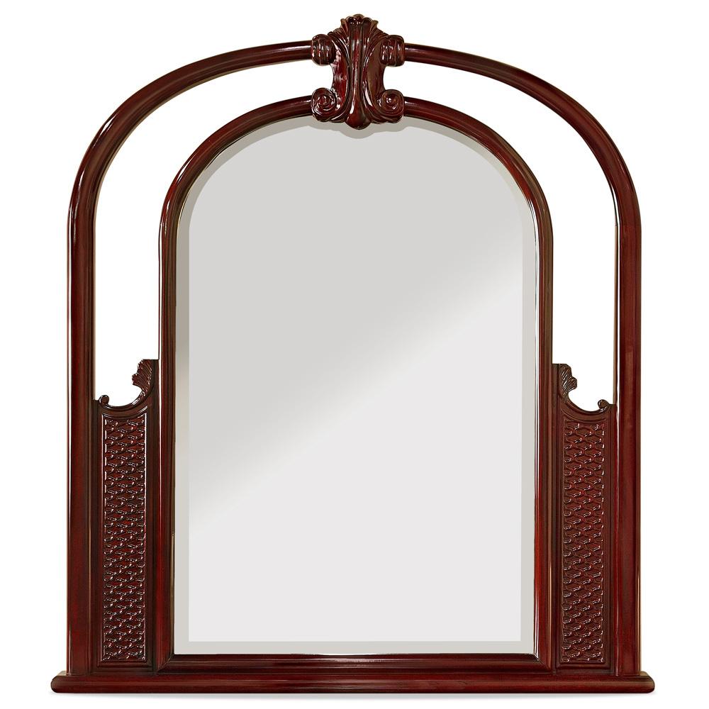 Dark Cherry Rosewood French Design Mirror