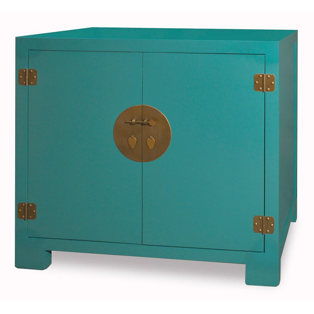 Cerulean Elmwood Ming Cabinet