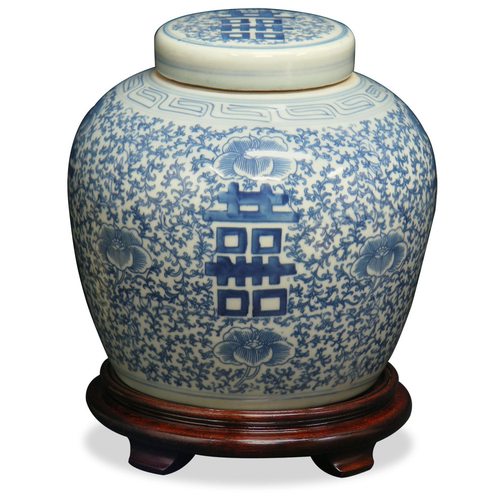 Q'ing Double Happiness Porcelain Jar