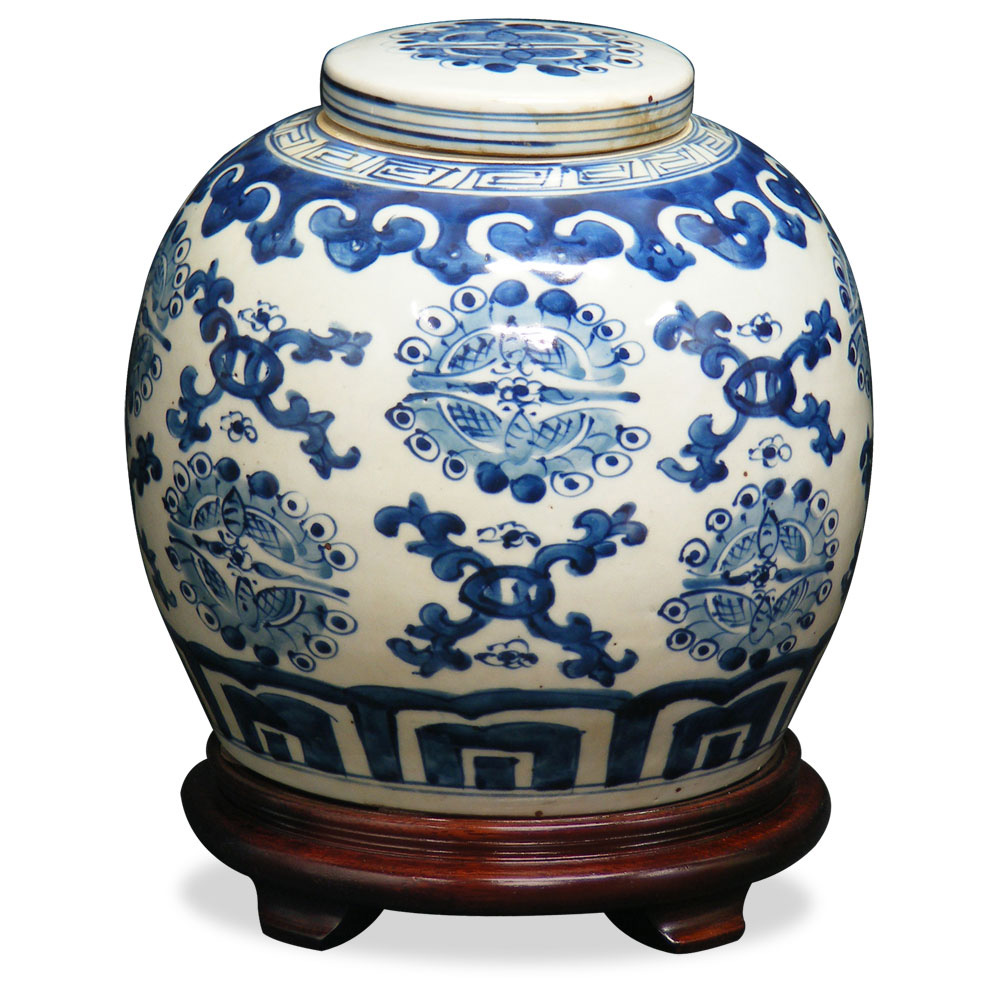 Porcelain Blue & White Jar