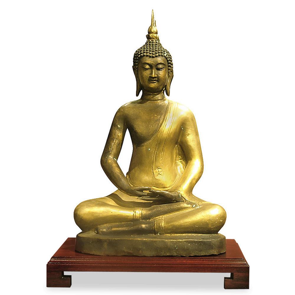 Tibetan Style Bronze Sitting Buddha