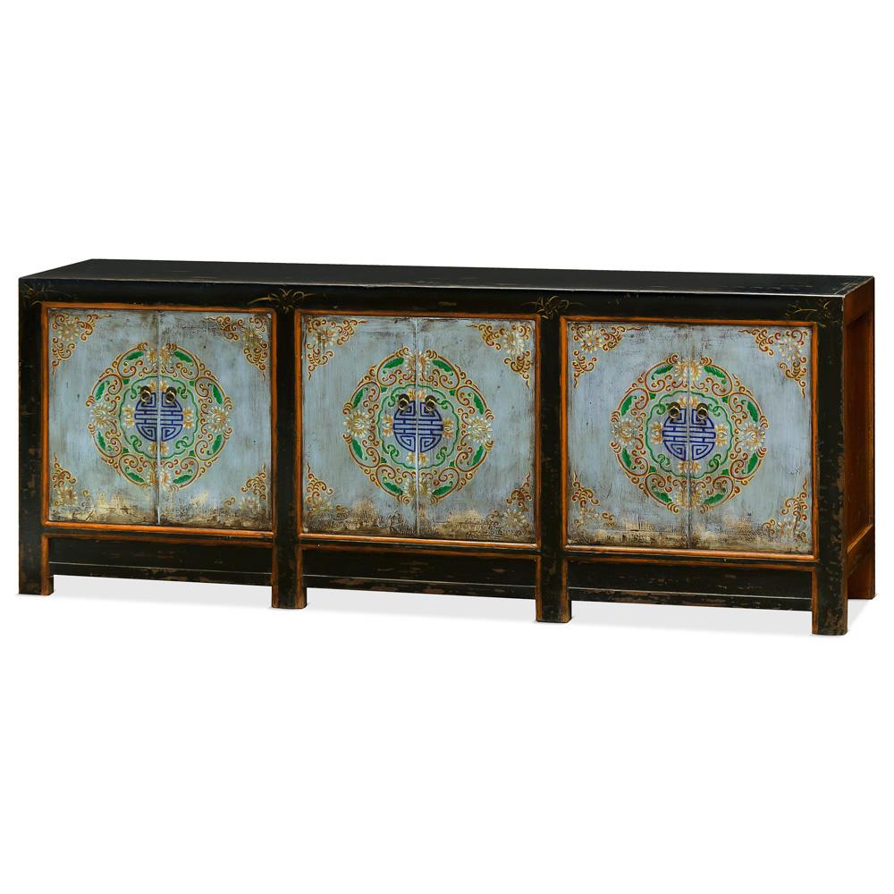 Elmwood Tibetan Cabinet