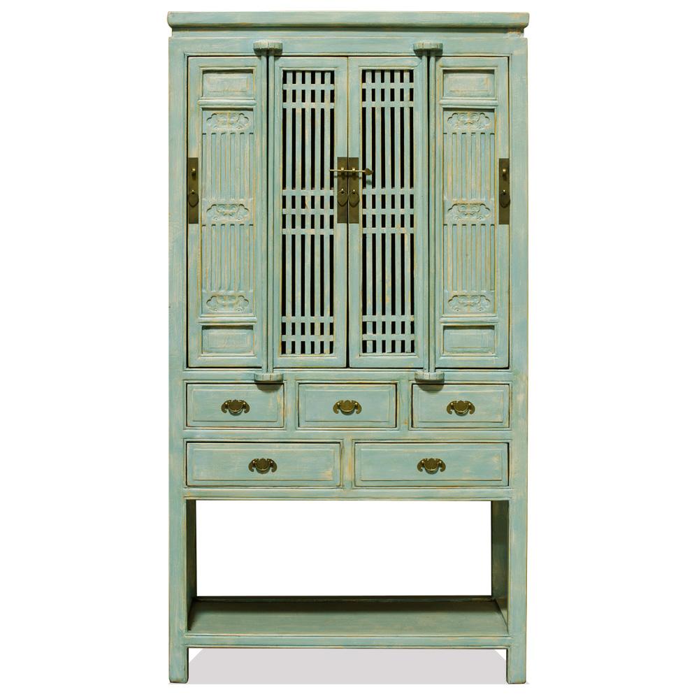 Elmwood Light Blue Storage Cabinet