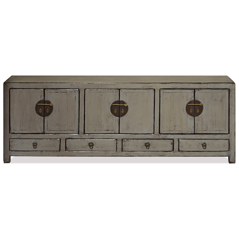 Elmwood Distressed Gray Kang Oriental Sideboard