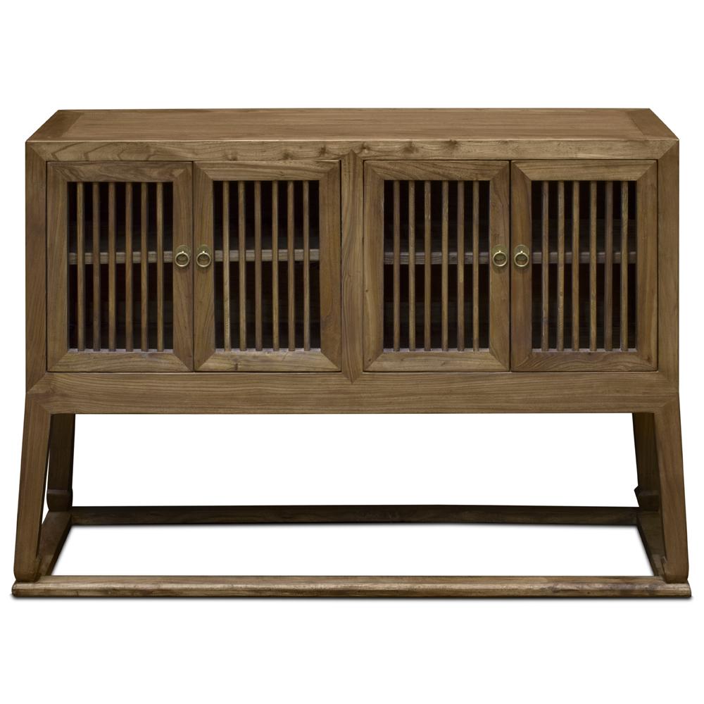 Light Walnut Elmwood Mandarin Peking Oriental Sideboard