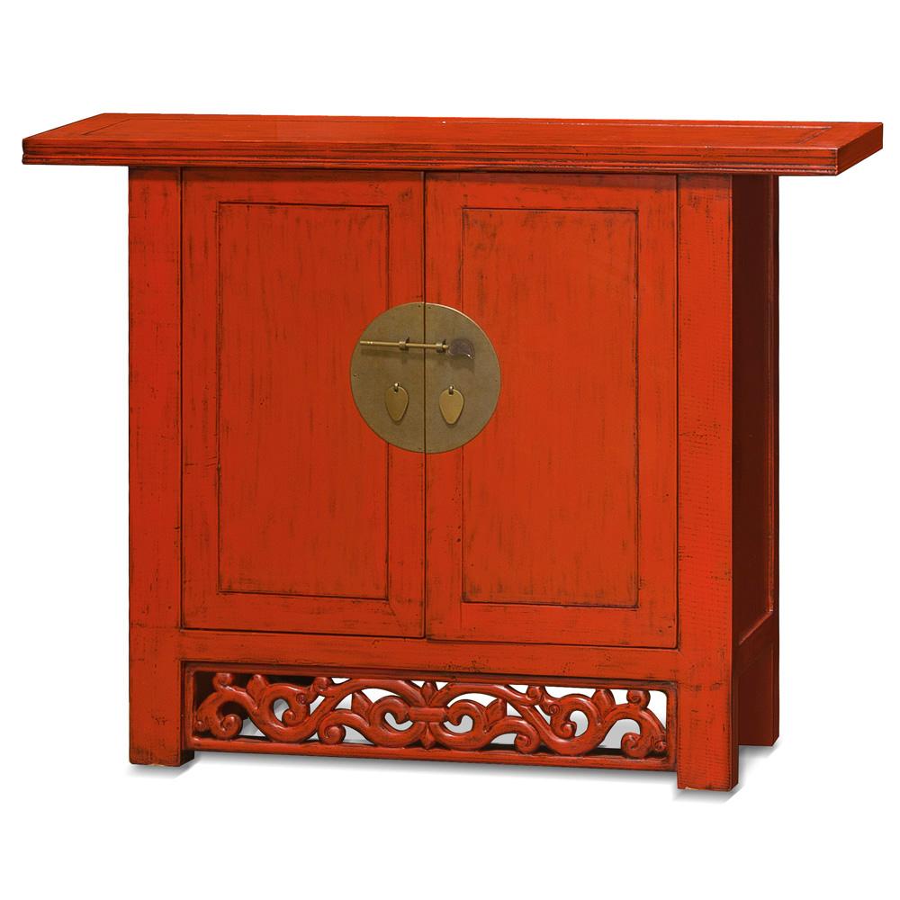Elmwood Red Ming Cabinet