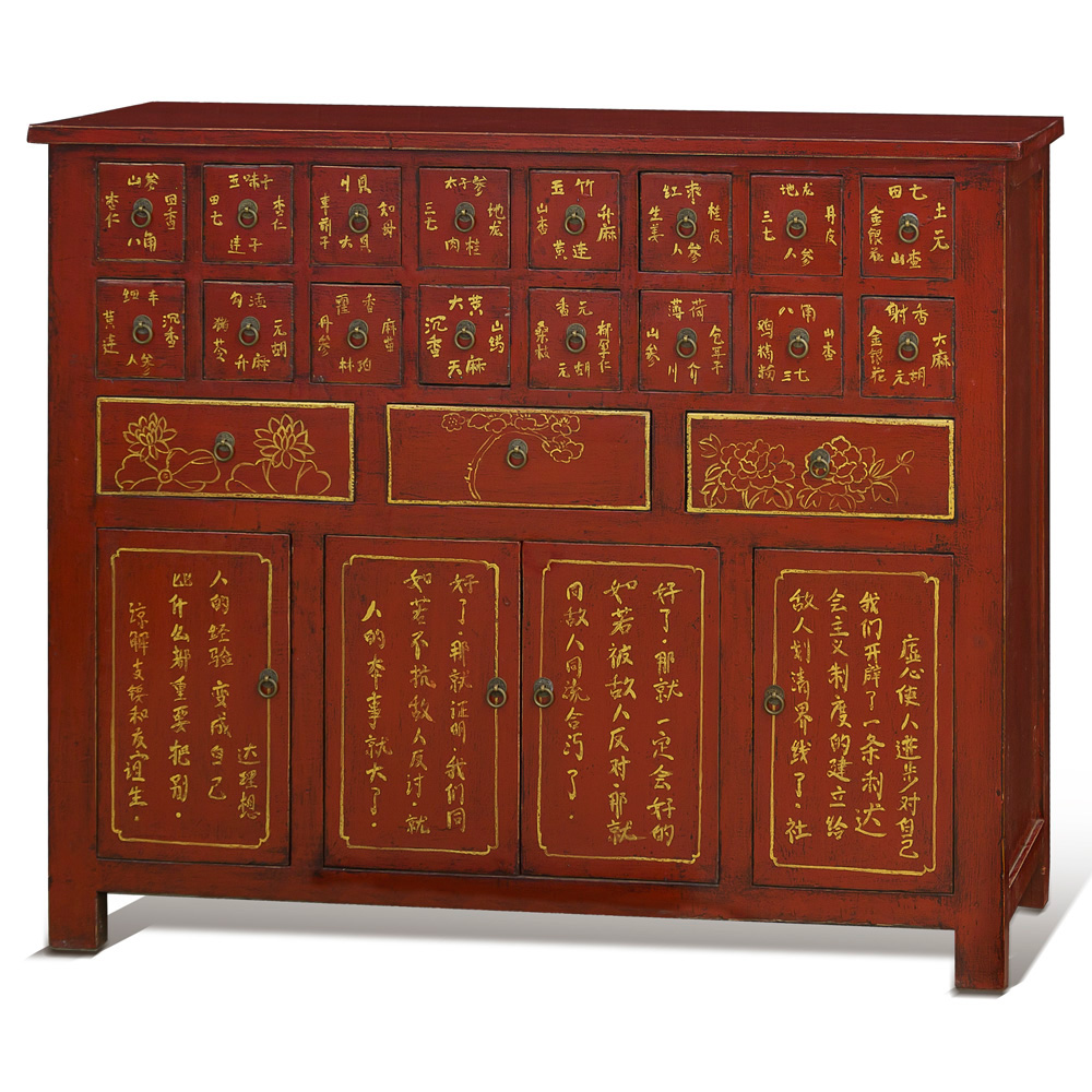 Elmwood Chinese Apothecary Chest