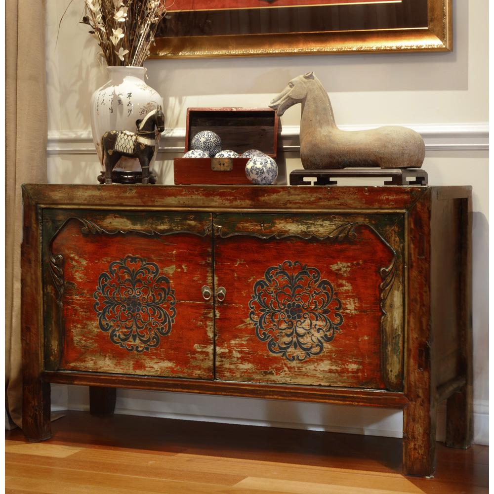 Hand Painted Tibetan Cabinet