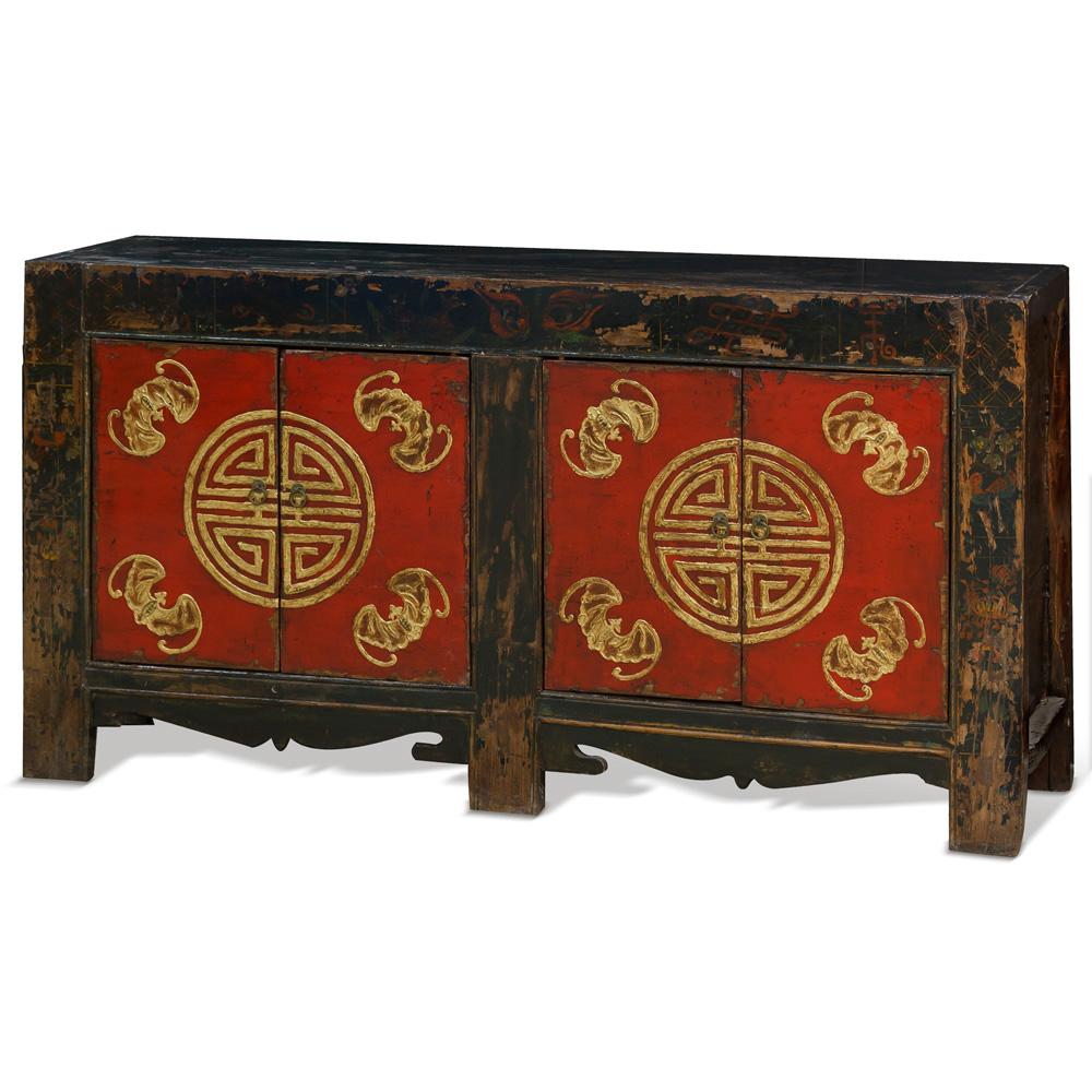 Tibetan Longevity Motif Cabinet