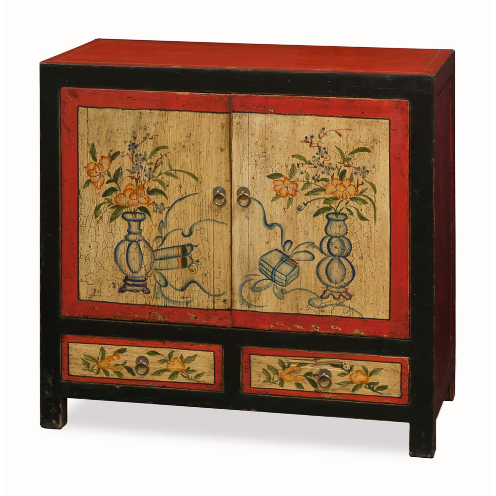 Hand Painted Mongolian Cabinet