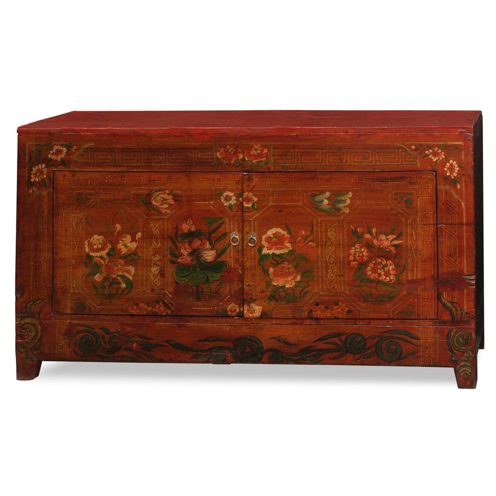 Tibetan Floral Motif Cabinet