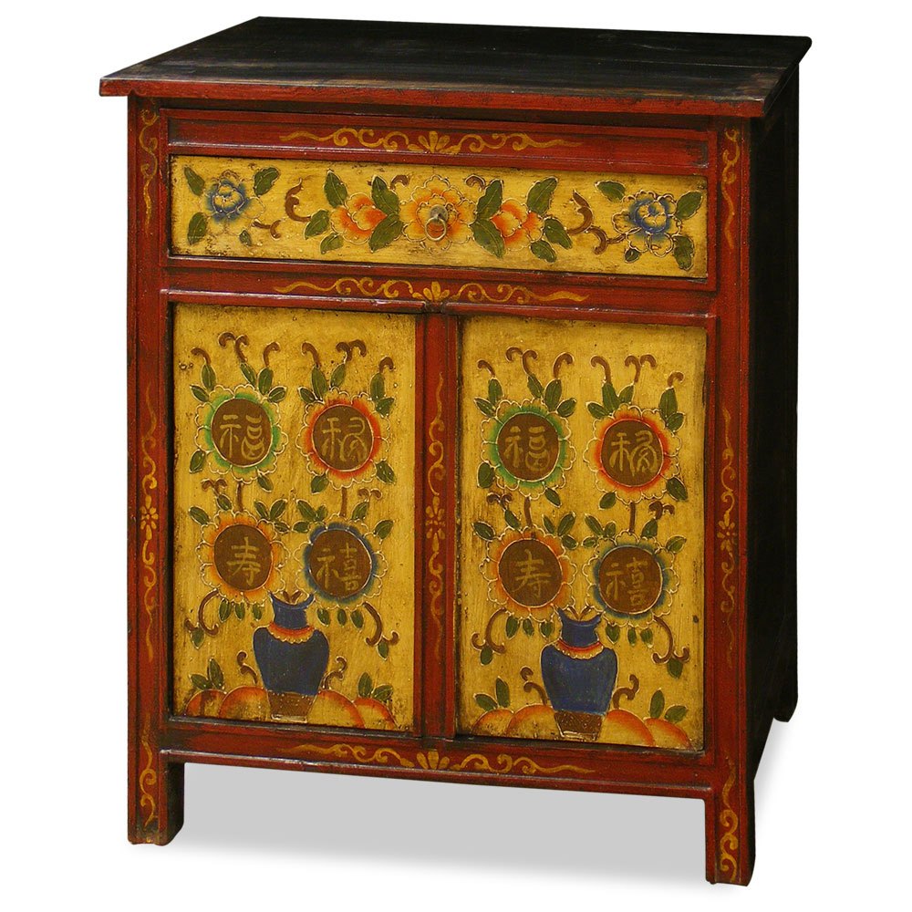 Hand-Painted Tibetan Chest