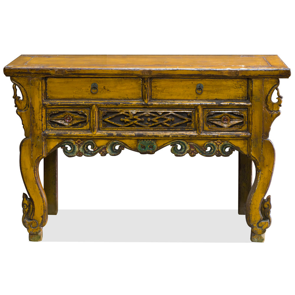Vintage Elmwood Nima Imperial Altar Table
