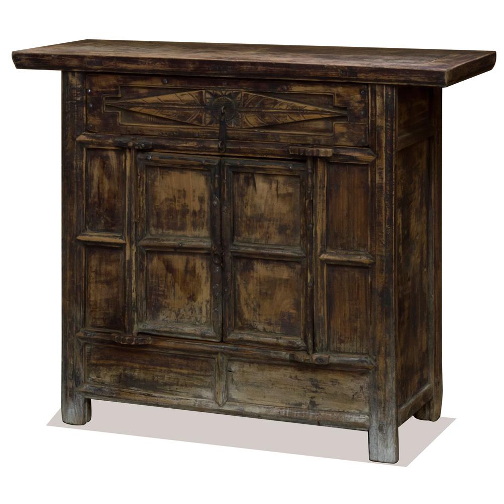 Vintage Elmwood Village Hall Oriental Cabinet