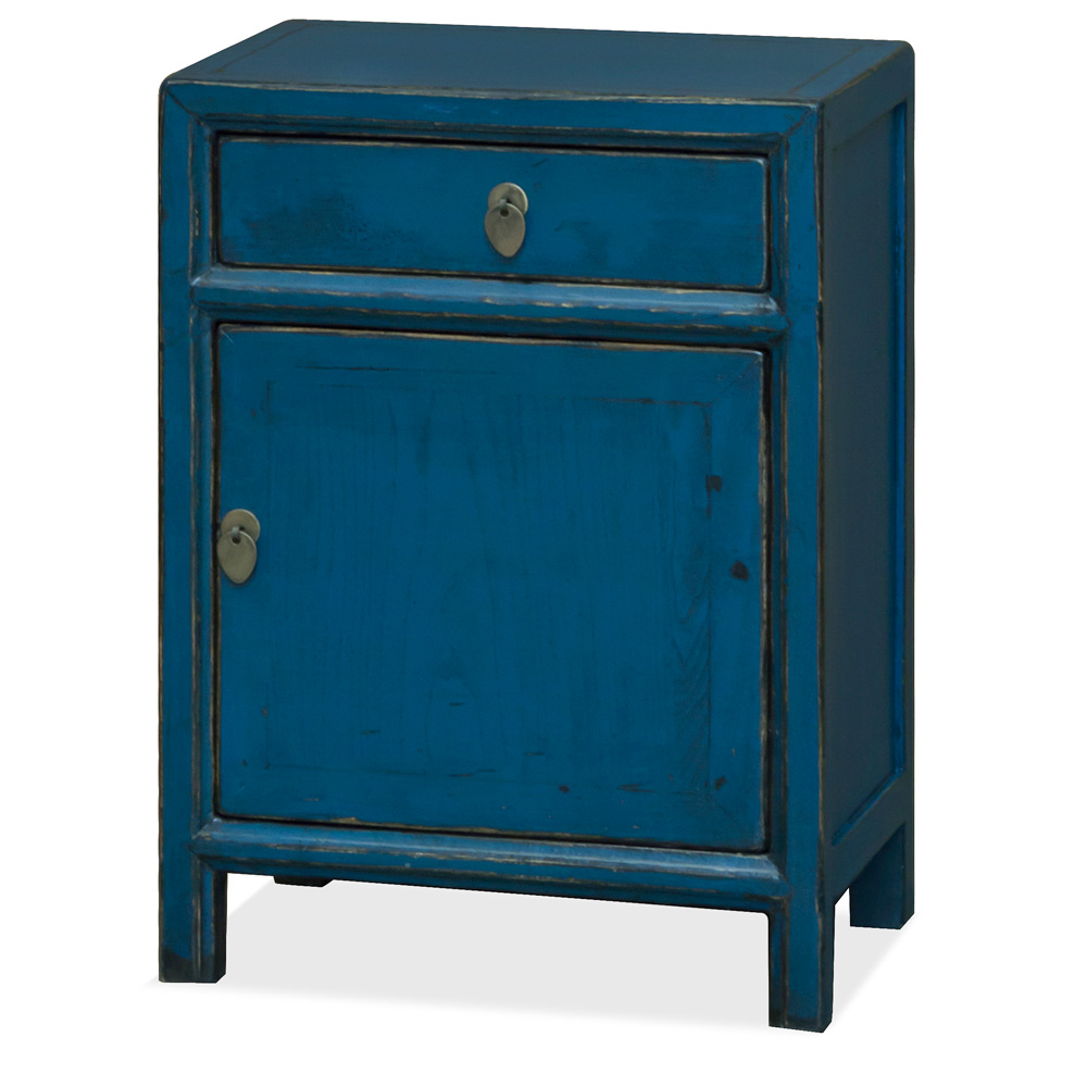Blue Elmwood Petite Peking Oriental Cabinet