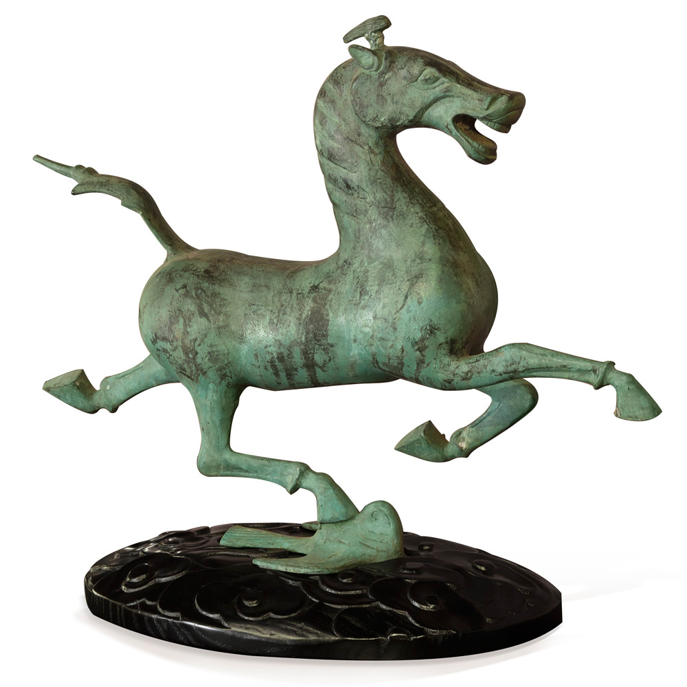 Bronze Flying Horse of Gansu Oriental Statue