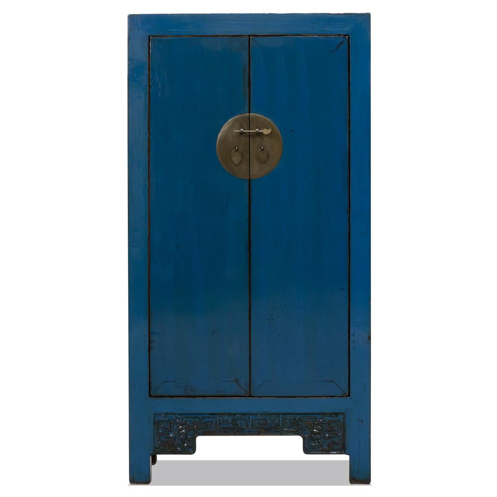 Vintage Dark Blue Elmwood Wedding Cabinet