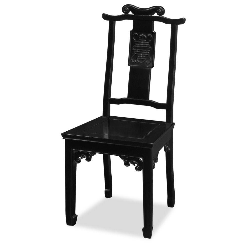 Black Rosewood Chinese Ming Longevity Chair