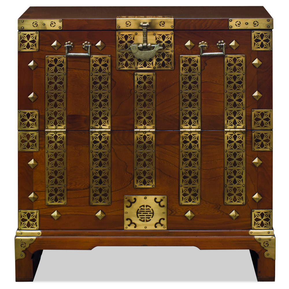 Elmwood Qing Dynasty Chest