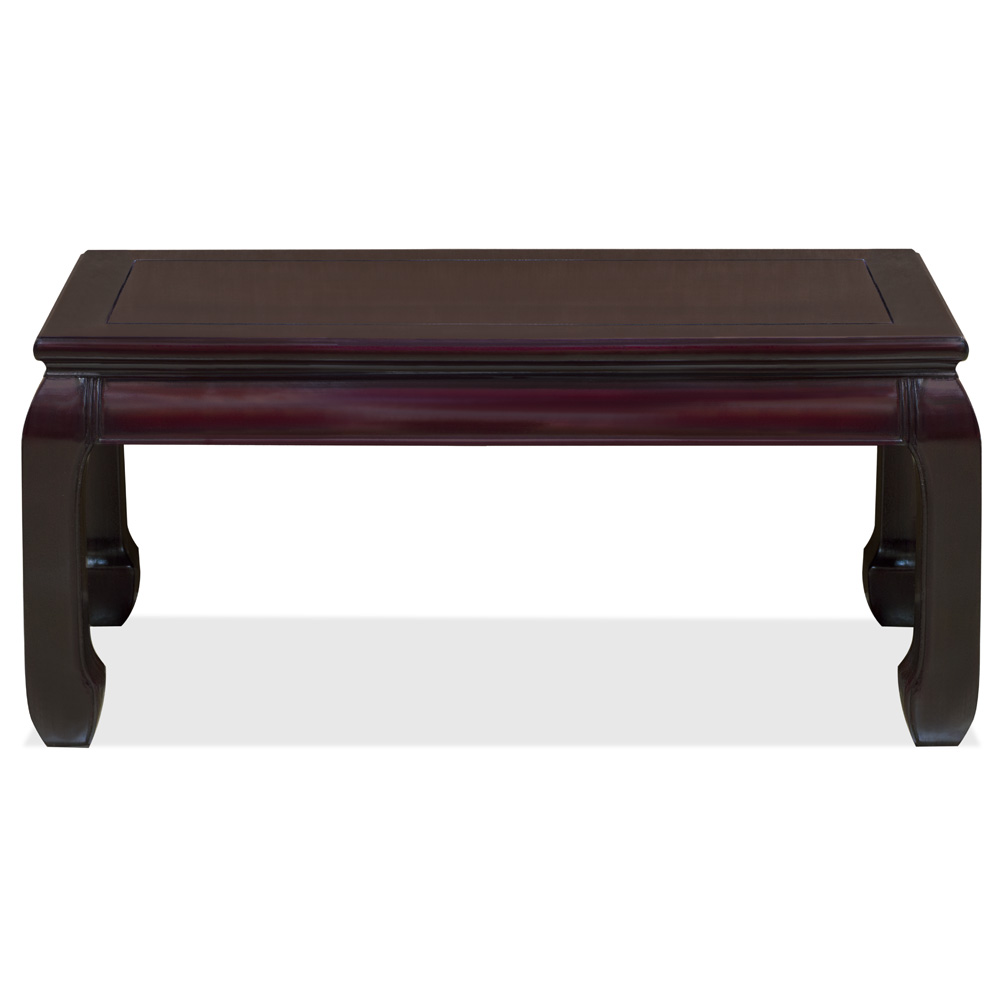 Dark Cherry Rosewood Ming Rectangular Chinese Coffee Table