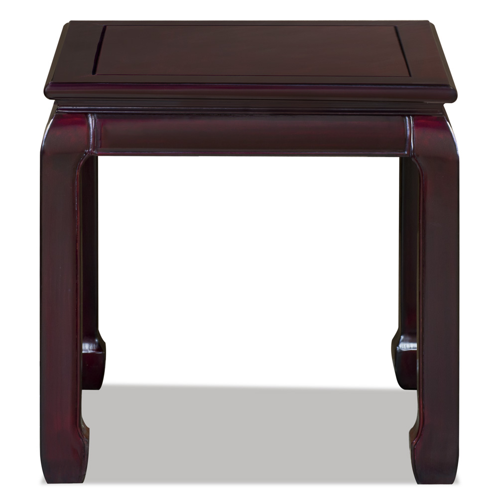 Dark Cherry Rosewood Chinese Ming Side Table