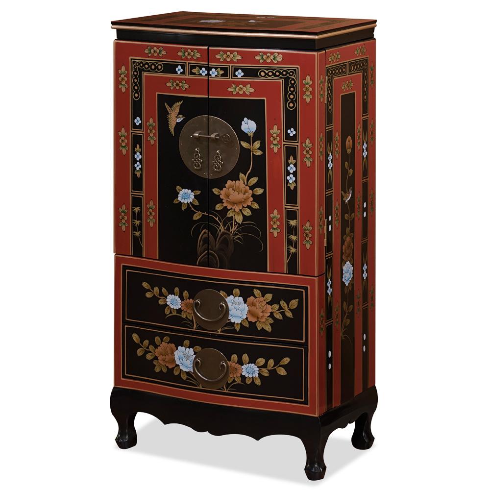 Tibetan Flower Jewelry Armoire