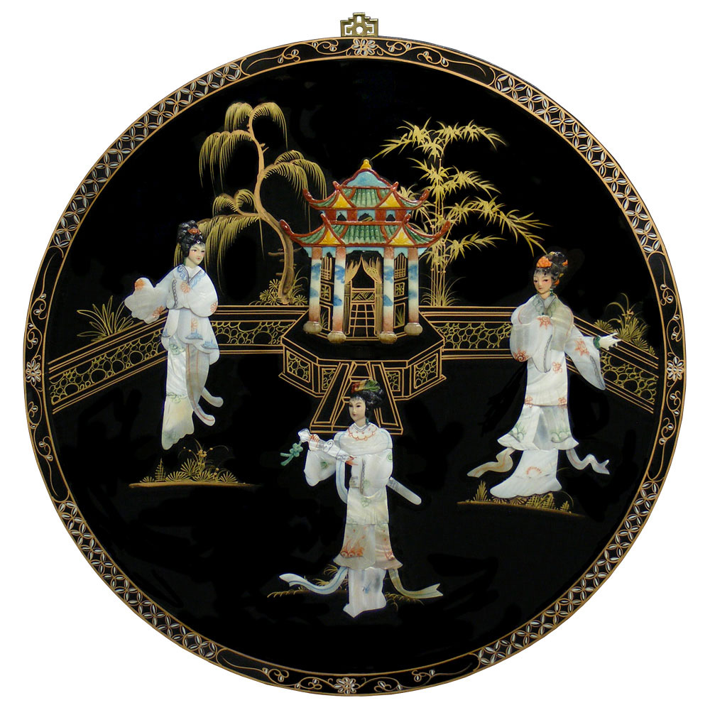 Mother of Pearl Round Wall Plaque