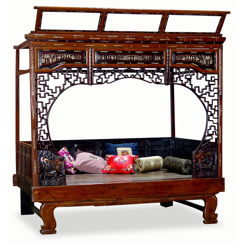 Antique Ning Bo Lady Bed