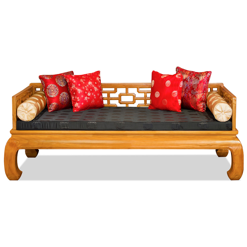 Natural Finish Elmwood Chinese Ming Day Bed