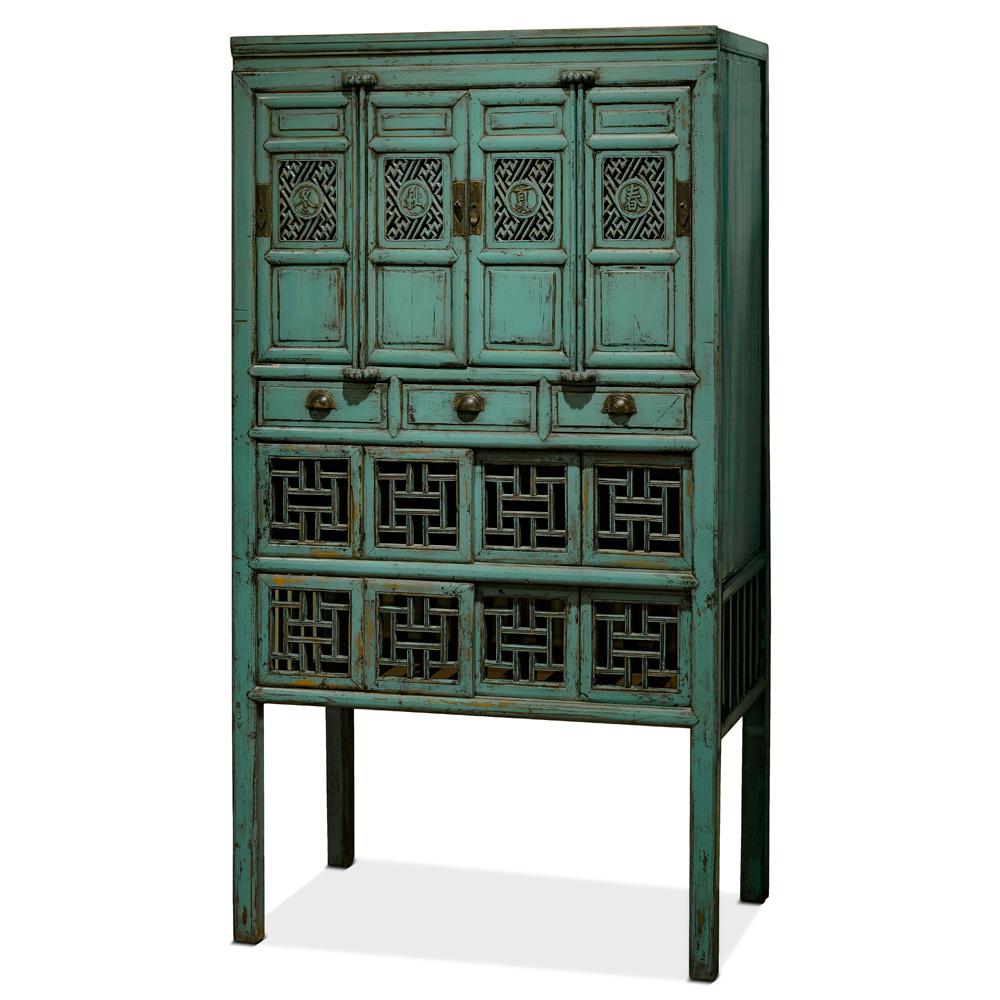 Antique Turquoise Kitchen Cabinet