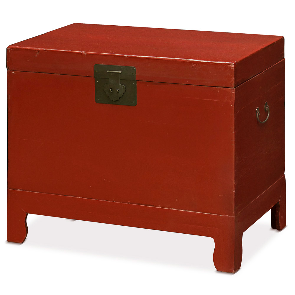 Vintage Chinese Red Lacquer Chest