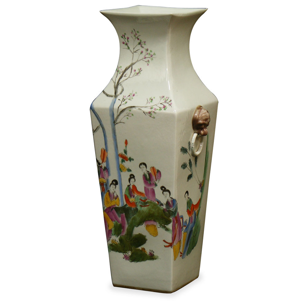 Hand Painted Vintage Peking Vase