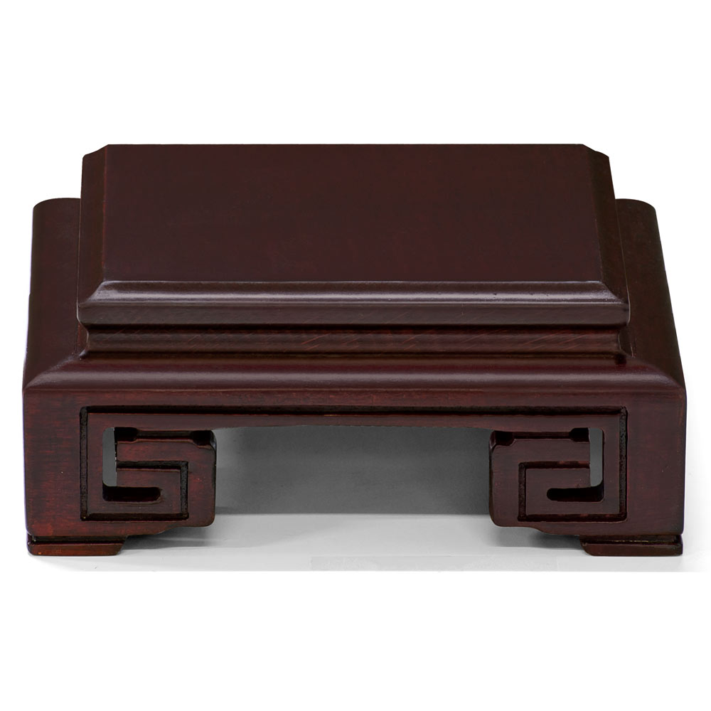 4.5 Inch Brown Square Chinese Wooden Stand
