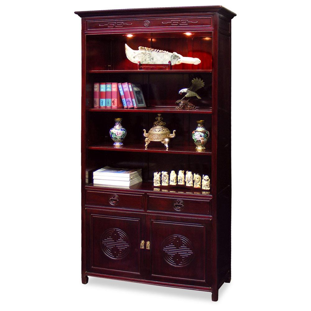 Rosewood Longevity Design Bookcase