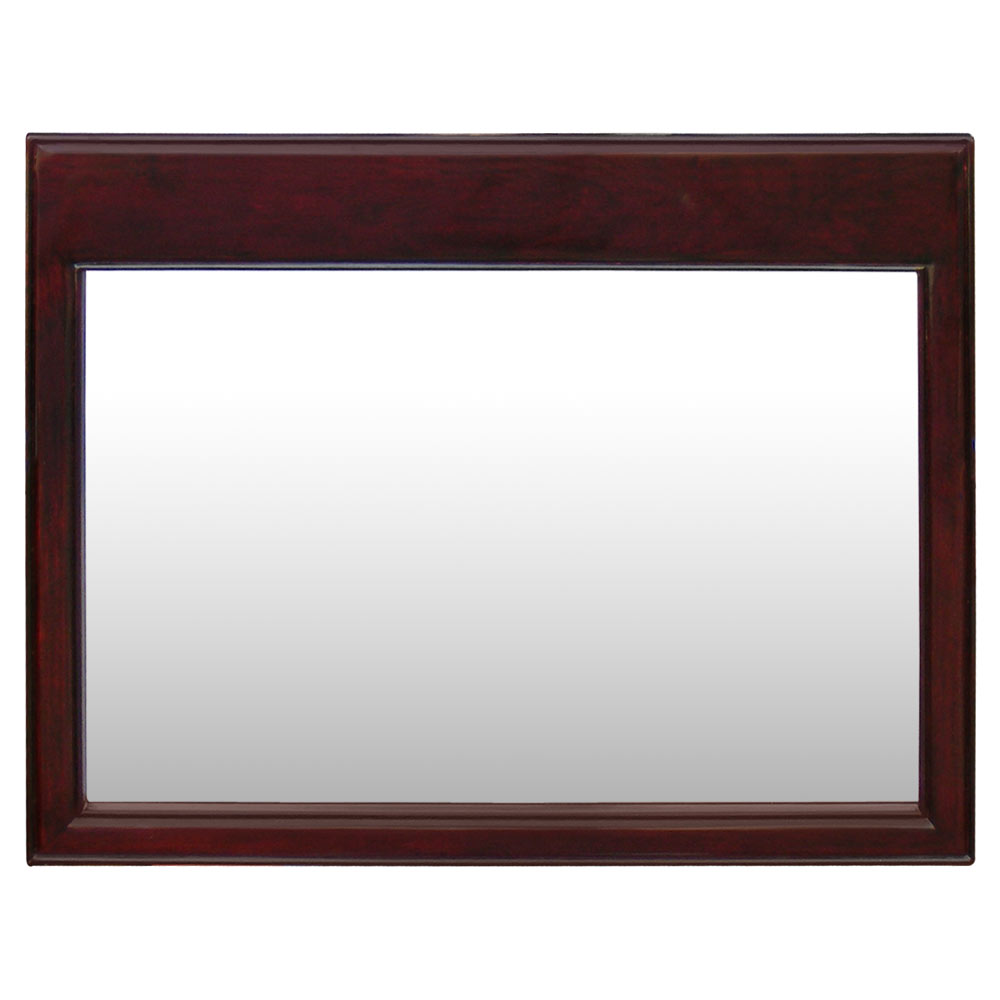 Dark Cherry Rosewood Chinese Ming Mirror
