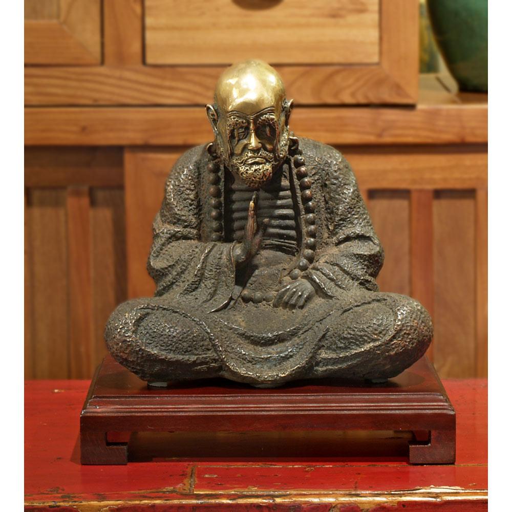 Bronze Meditating Da Mo