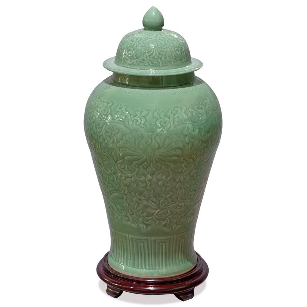 Celadon Porcelain Qingbai Imperial Ginger Jar
